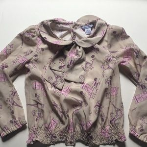 Girls blouse with bow detail